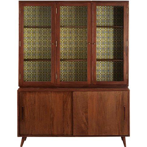 Vintage Solid Mango Wood 5-Door Sideboard Lucette