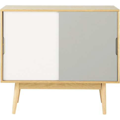 Vintage White And Grey Sideboard Fjord