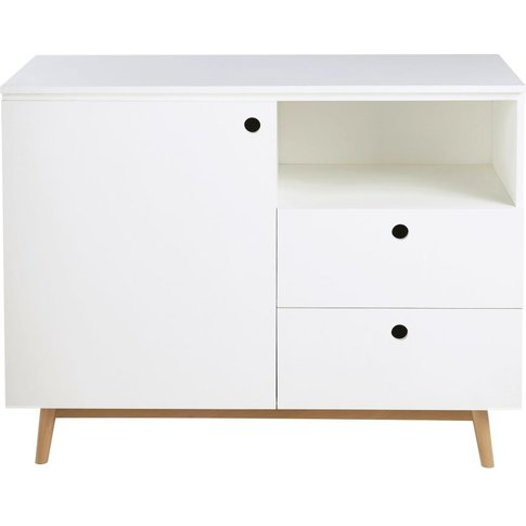 White 1-Door 2-Drawer Chest Of Drawers Eliot