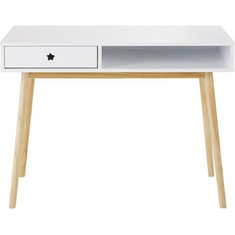 White 1-Drawer Desk Dreams