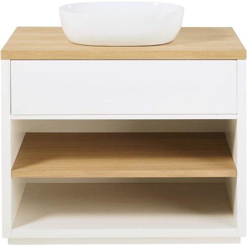 White 1-Drawer Vanity Unit Austral