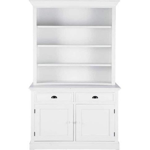 White 2-Drawer 2-Door Bookcase Newport