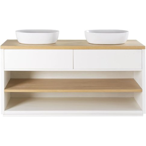 White 2-Drawer Double Vanity Unit Austral