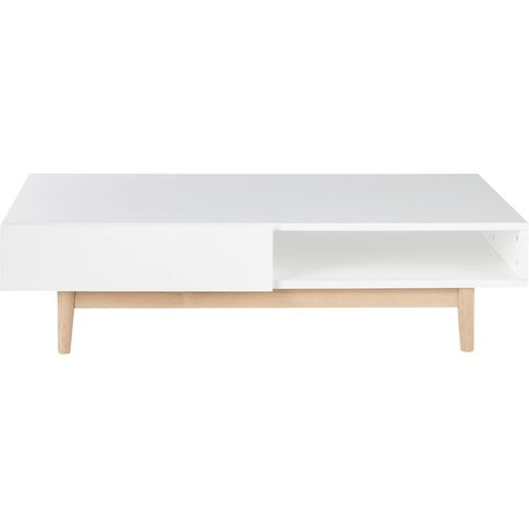 White 2-Drawer Scandinavian-Style Coffee Table Artic