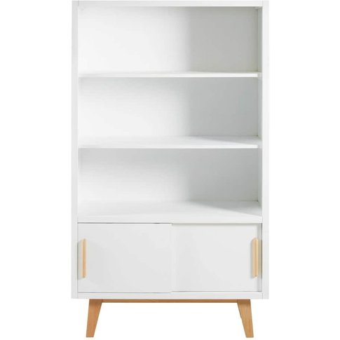 White 2 Sliding Door Bookcase Sweet