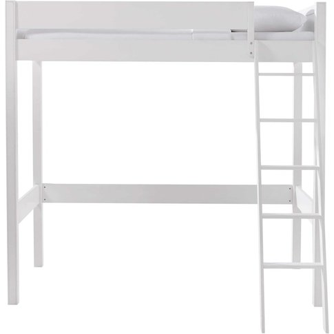 White 90x190 Loft Bed Newport