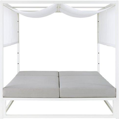 White Aluminium Garden Chaise Longue Caraïbes
