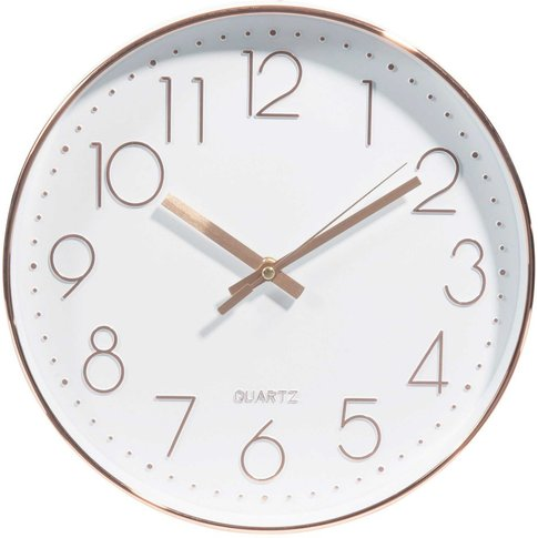 White and Copper Clock D31