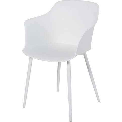 White and Metal Armchair Will