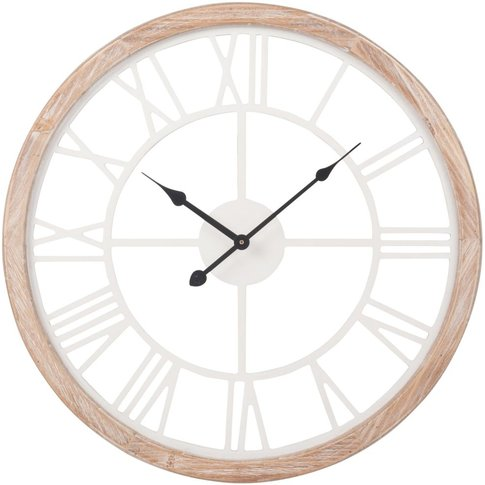 White And Natural-Coloured Clock H50