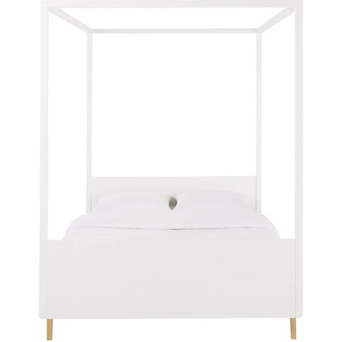 White Canopy Bed 140x190 Sweet