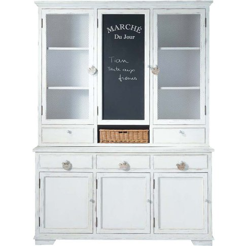 White China Cabinet Basse Cour