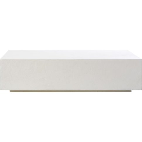 White Concrete-Effect Coffee Table Miso
