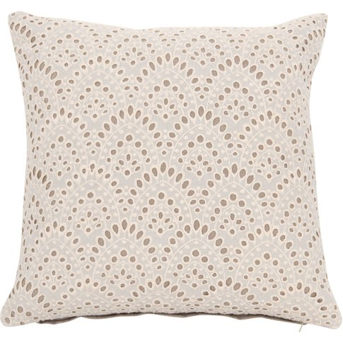 White Cotton and Lace Cushion Cover 40x40