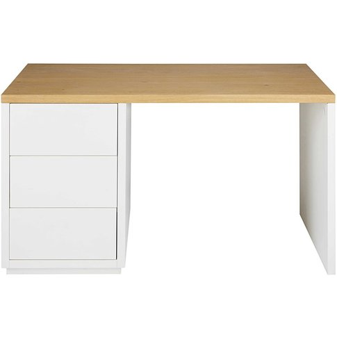 White Desk 3 Drawers Austral
