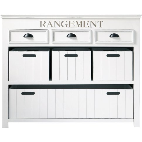 White Drawer Chest And Crates Newport