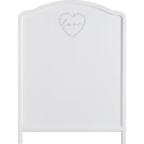 White Heart Print Headboard 90 Mila