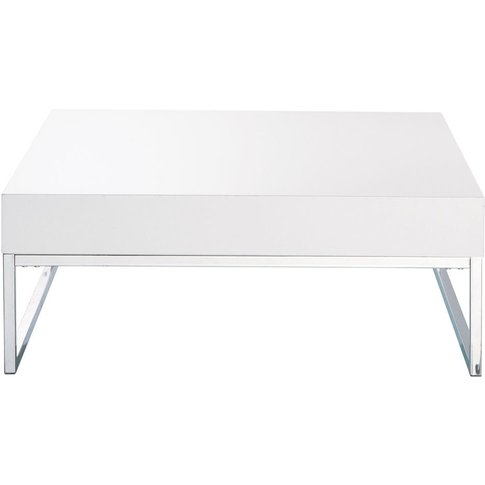 White Lacquered Finish Coffee Table Easy