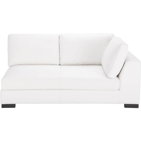 White Leather Rhf Modular Sofa Bed Terence