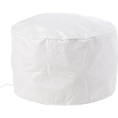 White Led Luminous Outdoor Pouffe