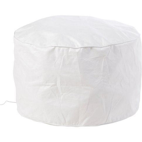 White Light-Up Inflatable Pouffe