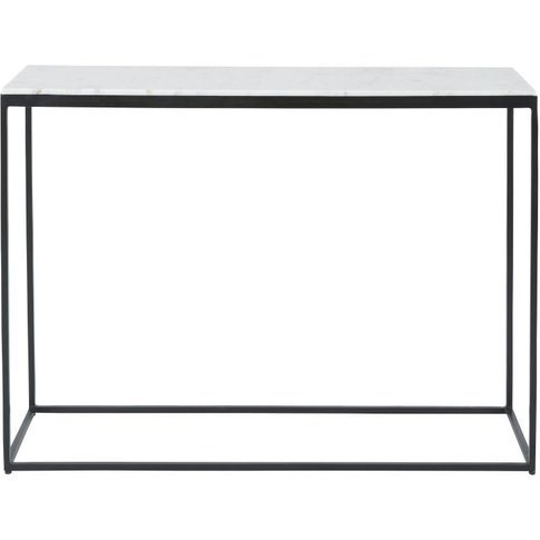White Marble And Black Metal Console Table Marble