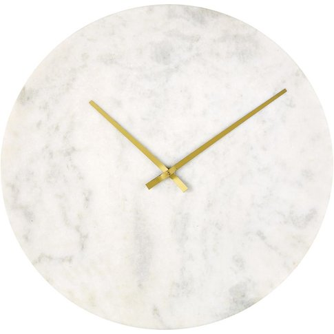 White Marble Clock D65