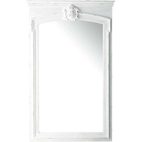 White Paulownia Trumeau Mirror 100x160