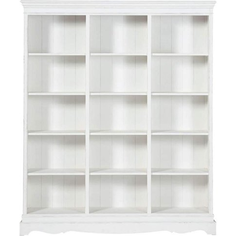 White Paulownia Wood Bookcase Joséphine