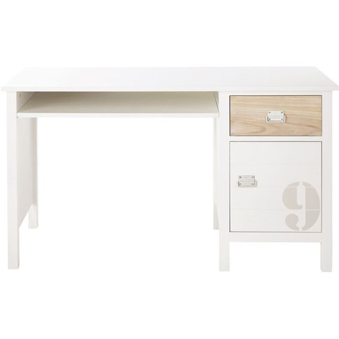 White Pine 1-Drawer 1-Door Desk Marin