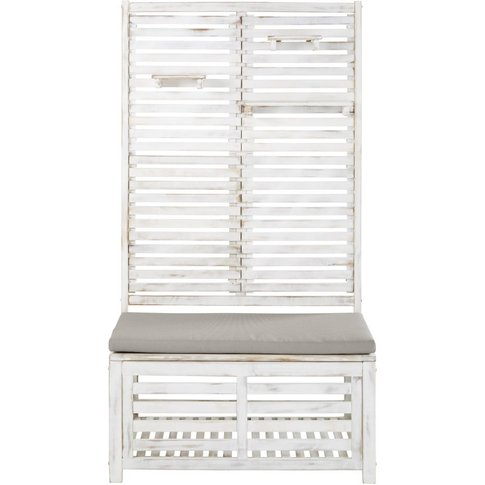 White Solid Acacia Outdoor Storage Day Bed with Shel...