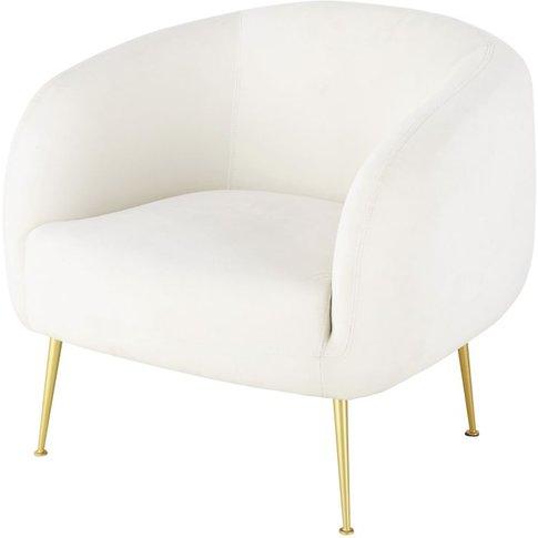 White Velvet Vintage Armchair Millenium