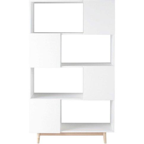 White Vintage 4-Door Bookcase Artic