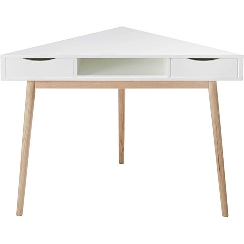White Vintage Corner Desk Artic