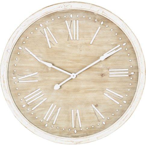 Whitewashed Fir Clock D97