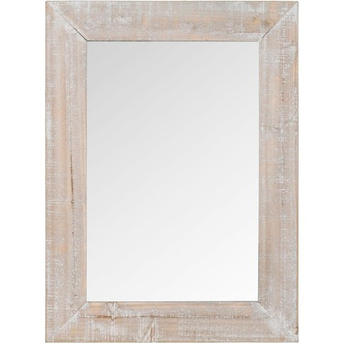 Whitewashed Fir Wood Mirror 55x75