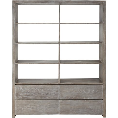 Wooden bookcase W 165cm Baltic