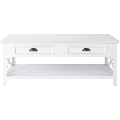 Wooden Coffee Table, White W 120cm Newport