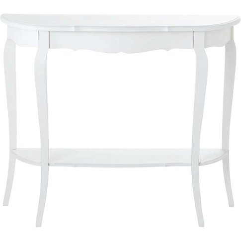 Wooden Console Table In White W 94cm Séraphine
