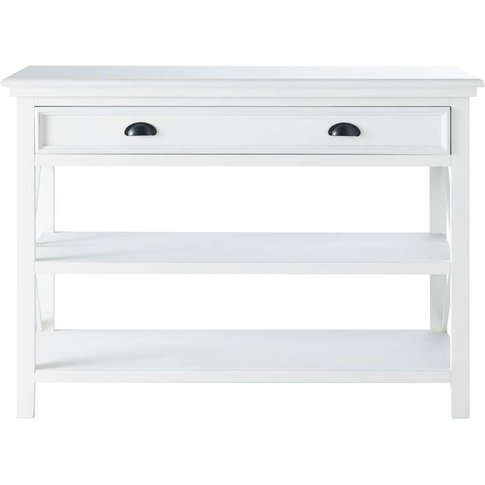 Wooden Console Table, White, L 120 Cm Newport