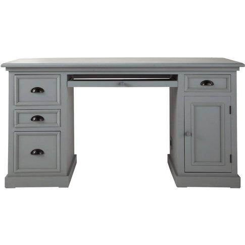 Wooden Desk In Grey W 150cm Newport