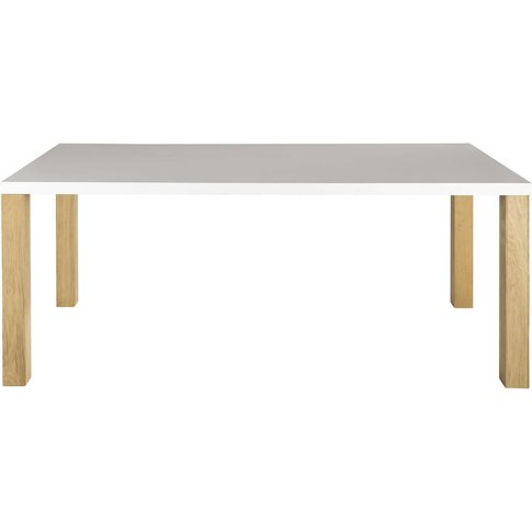 Wooden Dining Table In White W 200cm Austral
