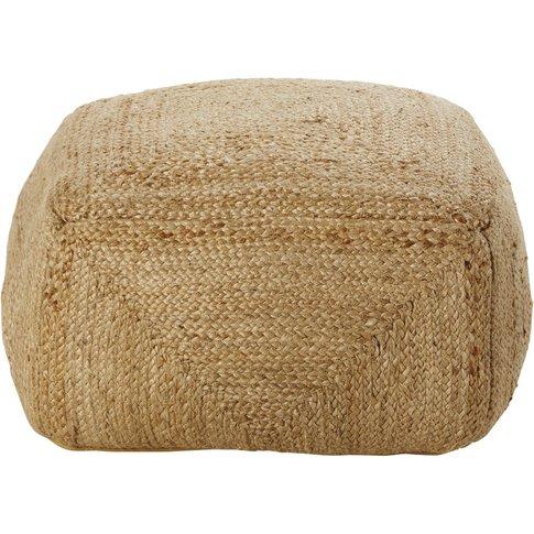 Woven Hemp Pouffe