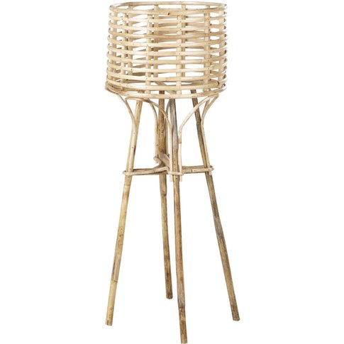 Woven Rattan And Bamboo Planter H83