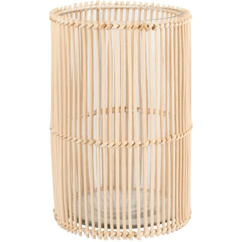 Woven Rattan Candle Holder