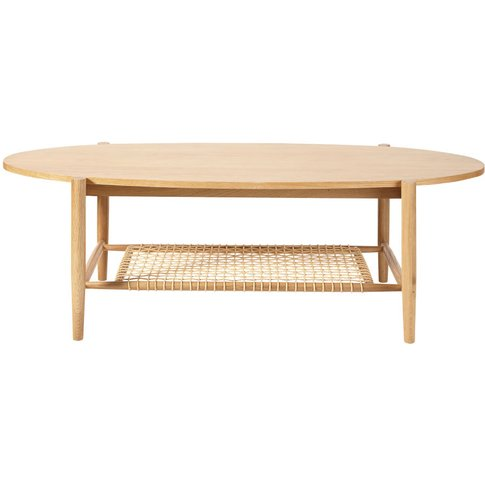 Woven Rope Oval Coffee Table With Two Surfaces Juno