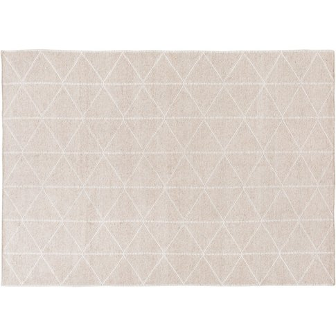 Woven Rug with Graphic Motifs 140x200