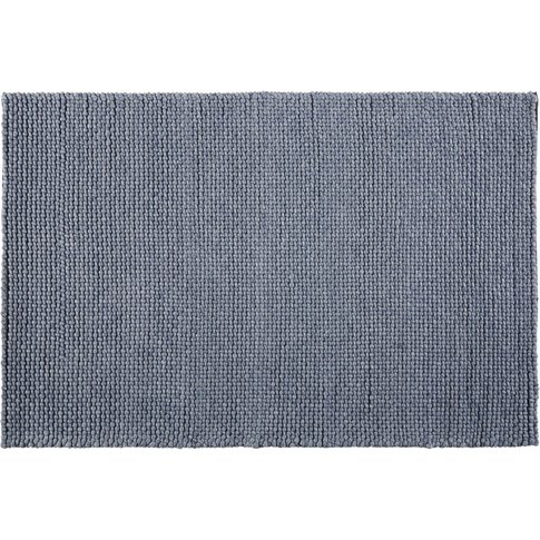 Woven Wool Rug In Anthracite Grey 160x230