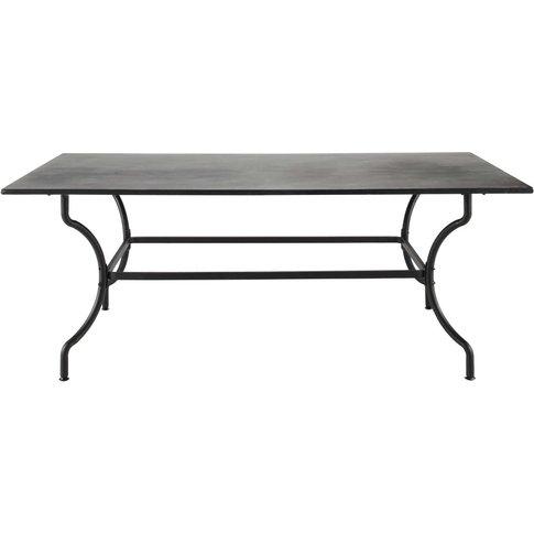 Wrought iron garden table in brown W 200cm Alpilles