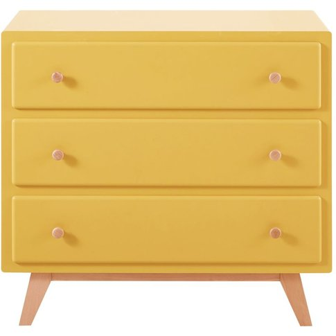 Yellow 3-Drawer Chest of Drawers Compatible with Cha...